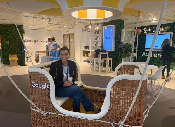Márcia Travessoni visita sede do Google na Espanha
