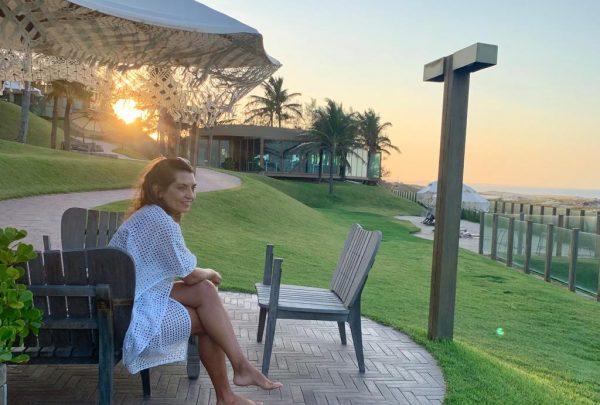 Márcia Travessoni aproveita fim de semana no luxuoso e intimista Carmel Charme Resort