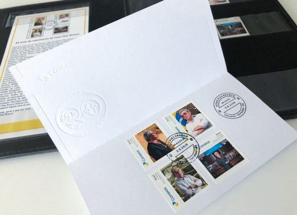 Empresário cearense Ivens Dias Branco estampa nova tiragem de selos dos Correios; veja