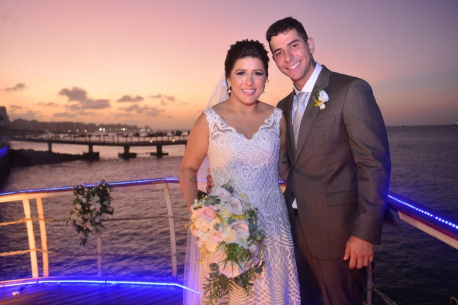 Com vista privilegiada, casamento de Lucila Norões e Fernando Mota é celebrado no Iate Clube
