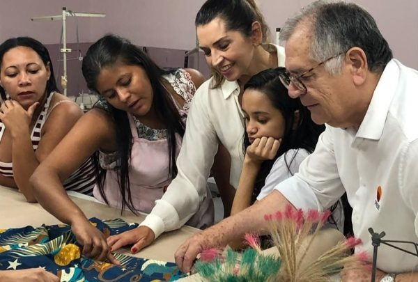 Márcia Travessoni visita Iprede acompanhada por Sulivan Mota, presidente do instituto