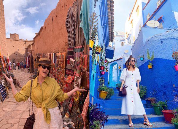 Rebeca Sampaio compartilha sua experiência pelas belezas e cores do Marrocos