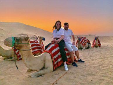 Solange Almeida curte Dubai ao lado de marido e visita pontos turísticos