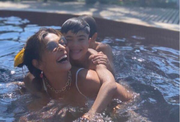 Réveillon em Jeri 2020: Juliana Paes curte dia na piscina com a família