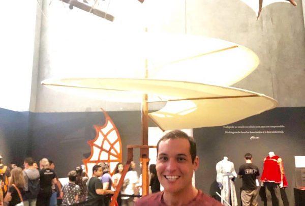 Arquiteto Alencar Júnior visita exposição de Leonardo da Vinci em São Paulo