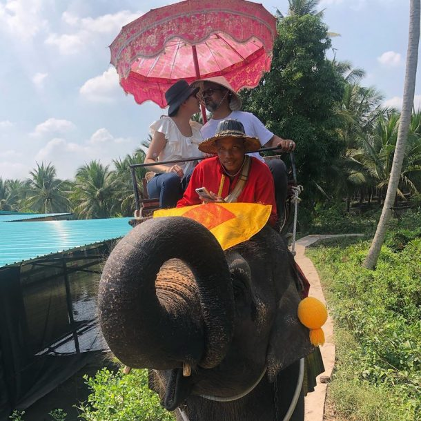 Márcio e Manoela Crisóstomo desbravam Tailândia e fazem passeio de elefante; veja roteiro