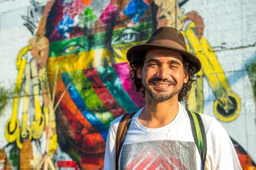 Referência mundial no grafite, Eduardo Kobra pinta mural de Santa Dulce dos Pobres em Salvador