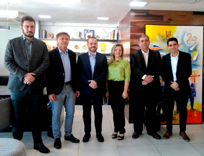 Senador Prisco Bezerra é recebido por Maurício Filizola em visita ao Sistema Fecomércio