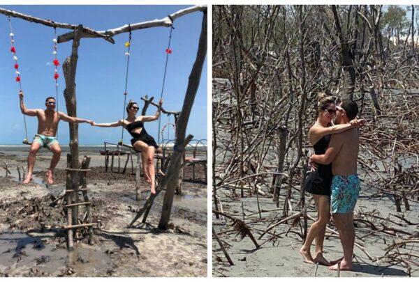 Wesley Safadão e Thyane aproveitam férias com amigos em Jericoacoara