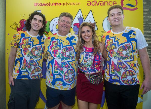 Evandro Colares promove mais um bloco da Advance nos 25 anos da agência; confira os cliques