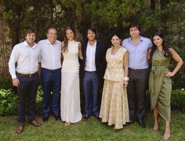 Casamento religioso de Marcella Minelli e Marcelo Menezes reúne famílias dos noivos em São Paulo