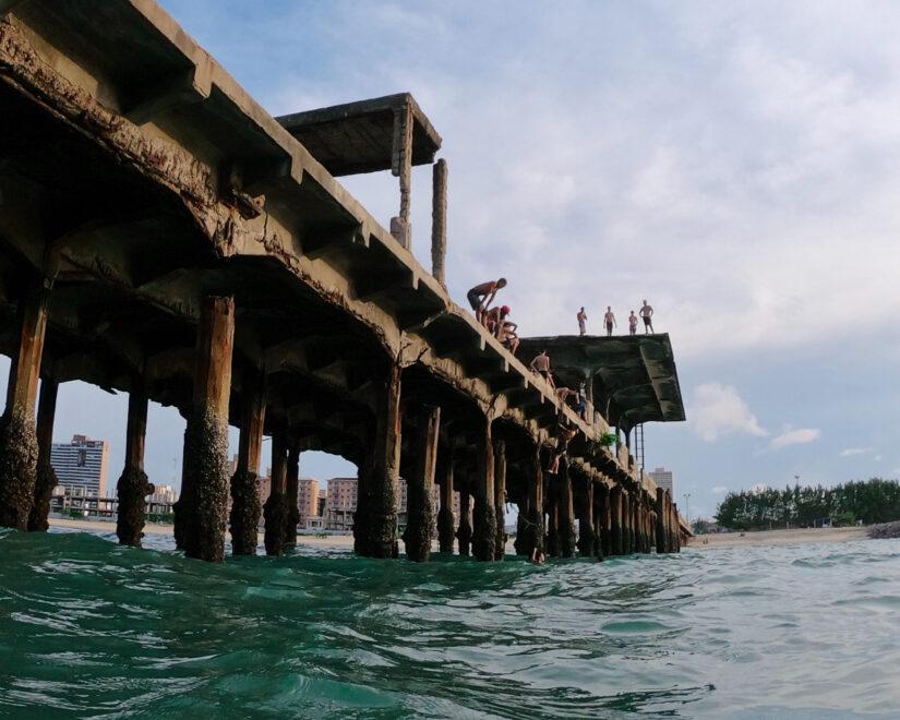 Ponte do Poço da Draga vai ganhar escada e deck