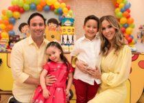 Rafaella e Tiago Asfor celebram aniversário de Luca com festa temática dos Beatles