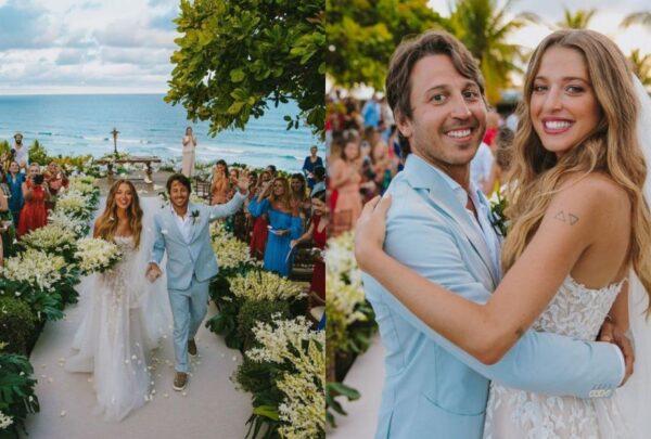 Casamento de Marcella Minelli e Marcelo Bezerra tem cerimônia emocionante e show de Preta Gil