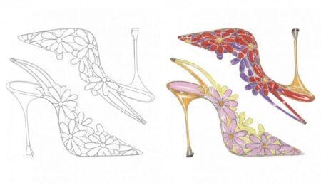 Manolo Blahnik disponibiliza esboços de sapatos icônicos para colorir; saiba como baixar