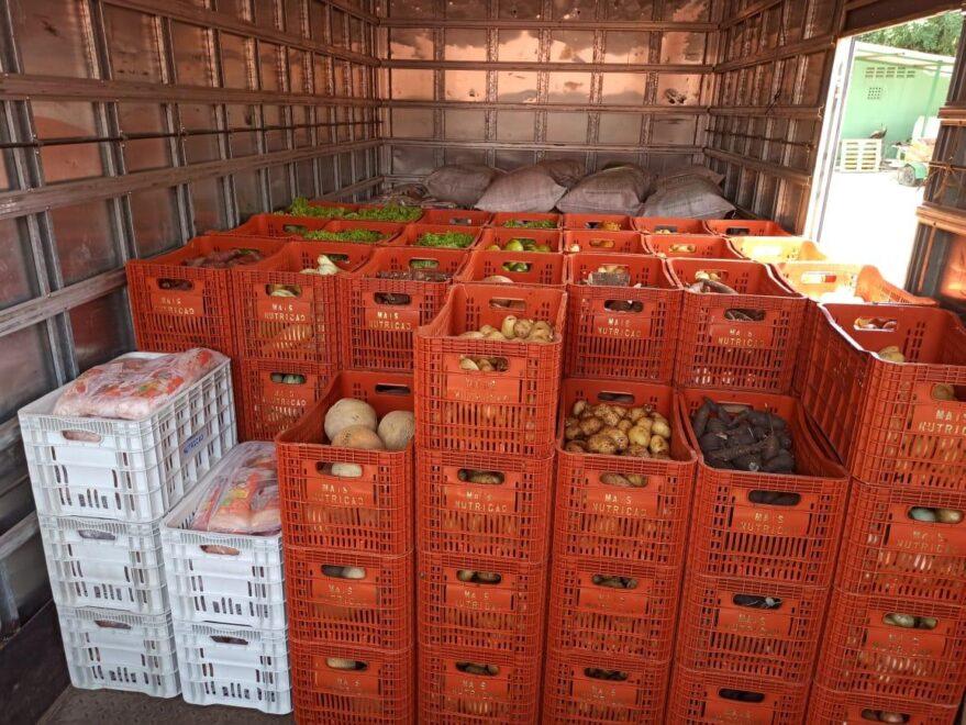 Novo Oriente recebe 5,6 toneladas de alimentos do Governo para o enfrentamento à chuva