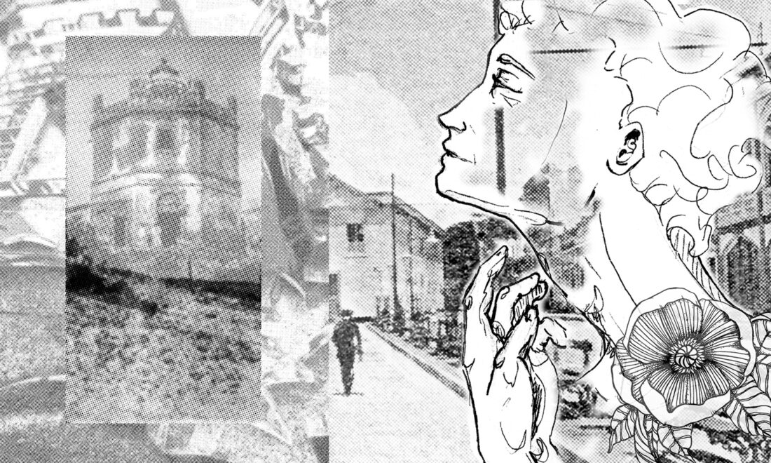 Bianca Misino e Cadeh Juaçaba fazem arte sobre fotos históricas de Fortaleza