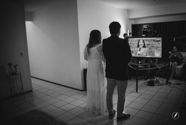 Casamento online: noivos contam detalhes das cerimônias