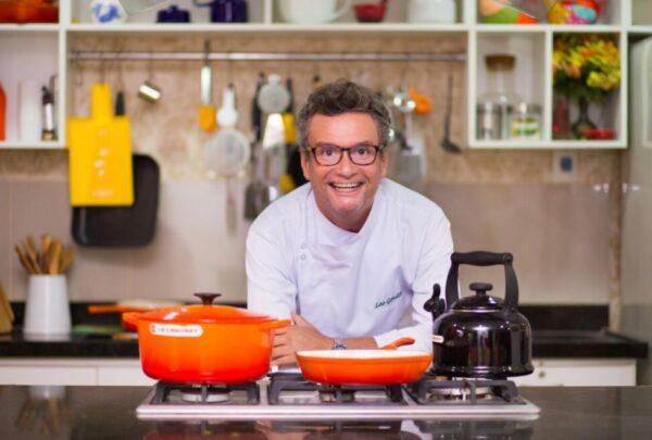 Léo Gondim ensina receita de farfalle com salmão e espinafre