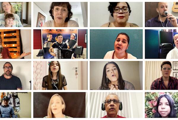 'Amor à distância': Márcia Travessoni reúne amigos em clipe gravado online