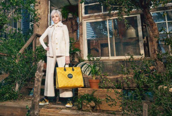 Gucci lança coleção sustentável com campanha estrelada por Jane Fonda