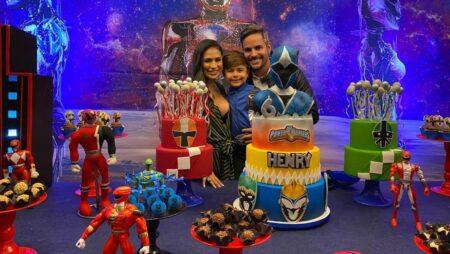 Simone comemora aniversário de seis anos do filho com festa temática