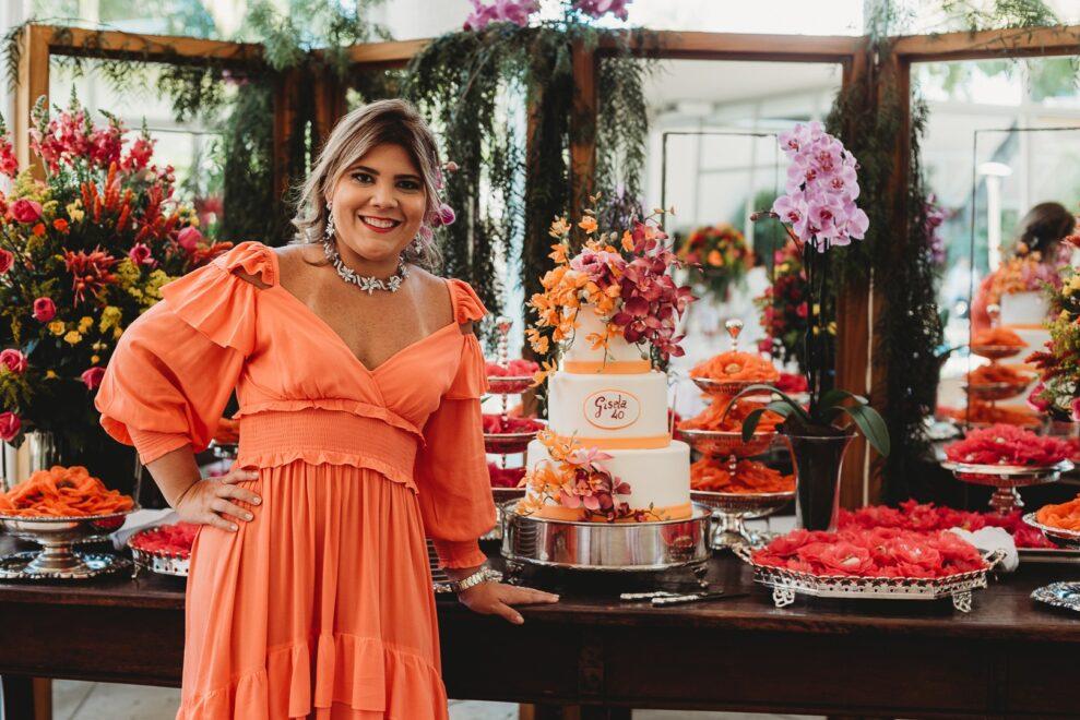Gisela Dias Branco Vieira comemora 40 anos com festa para os íntimos