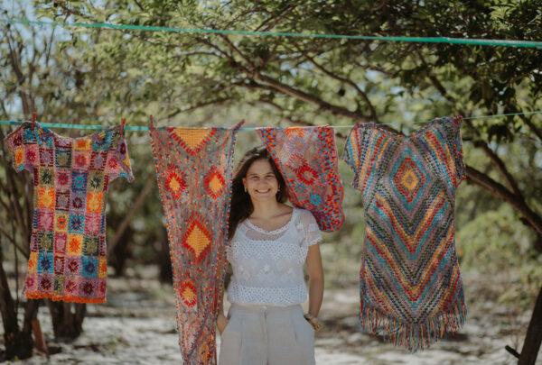 Catarina Mina lança coleção de renda de bilro em parceria com artesãs de Trairi