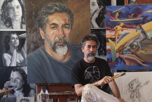 Pintor Fernando França fala sobre trajetória e inspirações artísticas