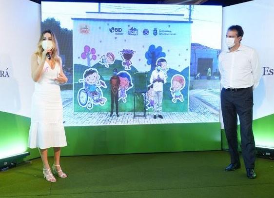Camilo e Onélia Santana entregam Praça Mais Infância de Juazeiro do Norte