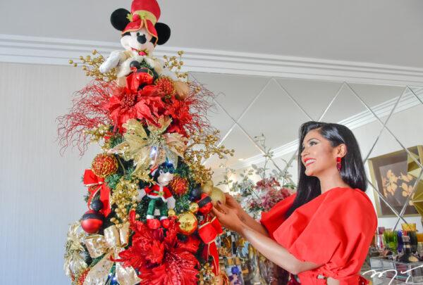 Décor de Natal: Mileide Mihaile monta árvore inspirada na Disney