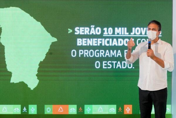 Governo do Ceará lança bolsa de R$ 200 para jovens que atuarem em ações ambientais