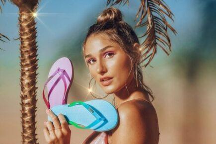 Sasha Meneghel estrela campanha da Melissa com peças de material reciclado