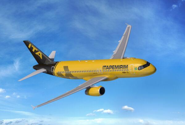 Primeira aeronave da Itapemirim Transportes Aéreos chega ao Brasil