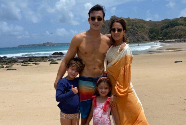 Marília Queiroz abre álbum de viagem em família a Fernando de Noronha