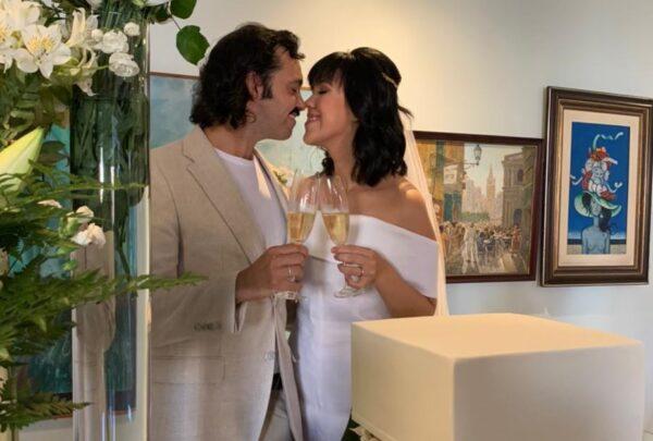 Carolina Figueiredo e Victor Eleutério oficializam união em cerimônia intimista