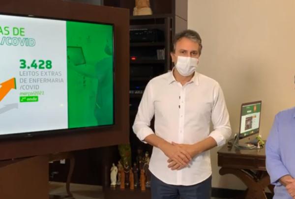 Camilo Santana prorroga decreto de isolamento social rígido até dia 4 de abril