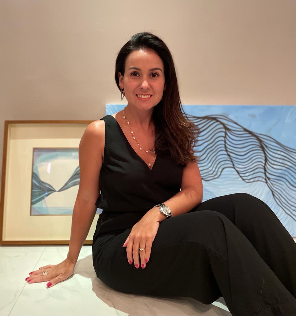 Claudiana Loureiro já tem duas obras expostas em Portugal (Foto: Arquivo MT)