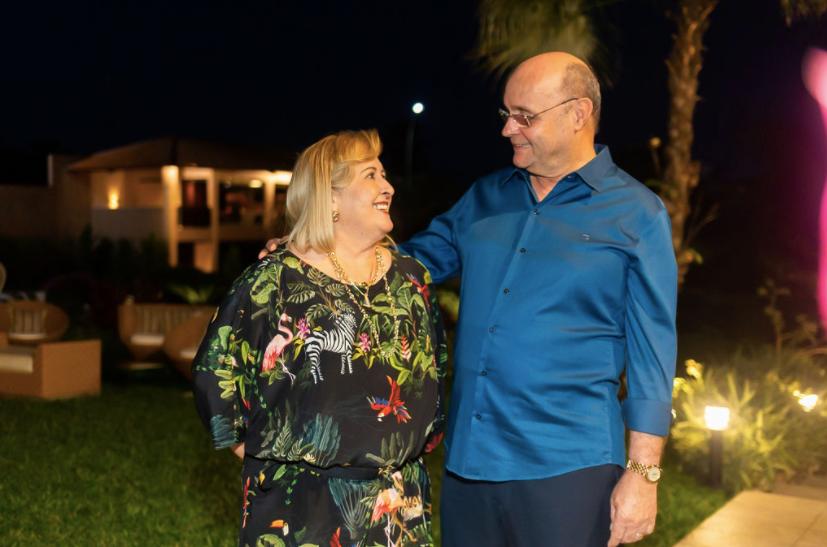 Fernando Gurgel ganhou aniversário organizado pela esposa (Foto: Arquivo pessoal)