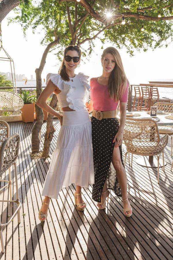 Anna e Raquel Macêdo no soft open do Illa Mare (Foto: Divulgação)