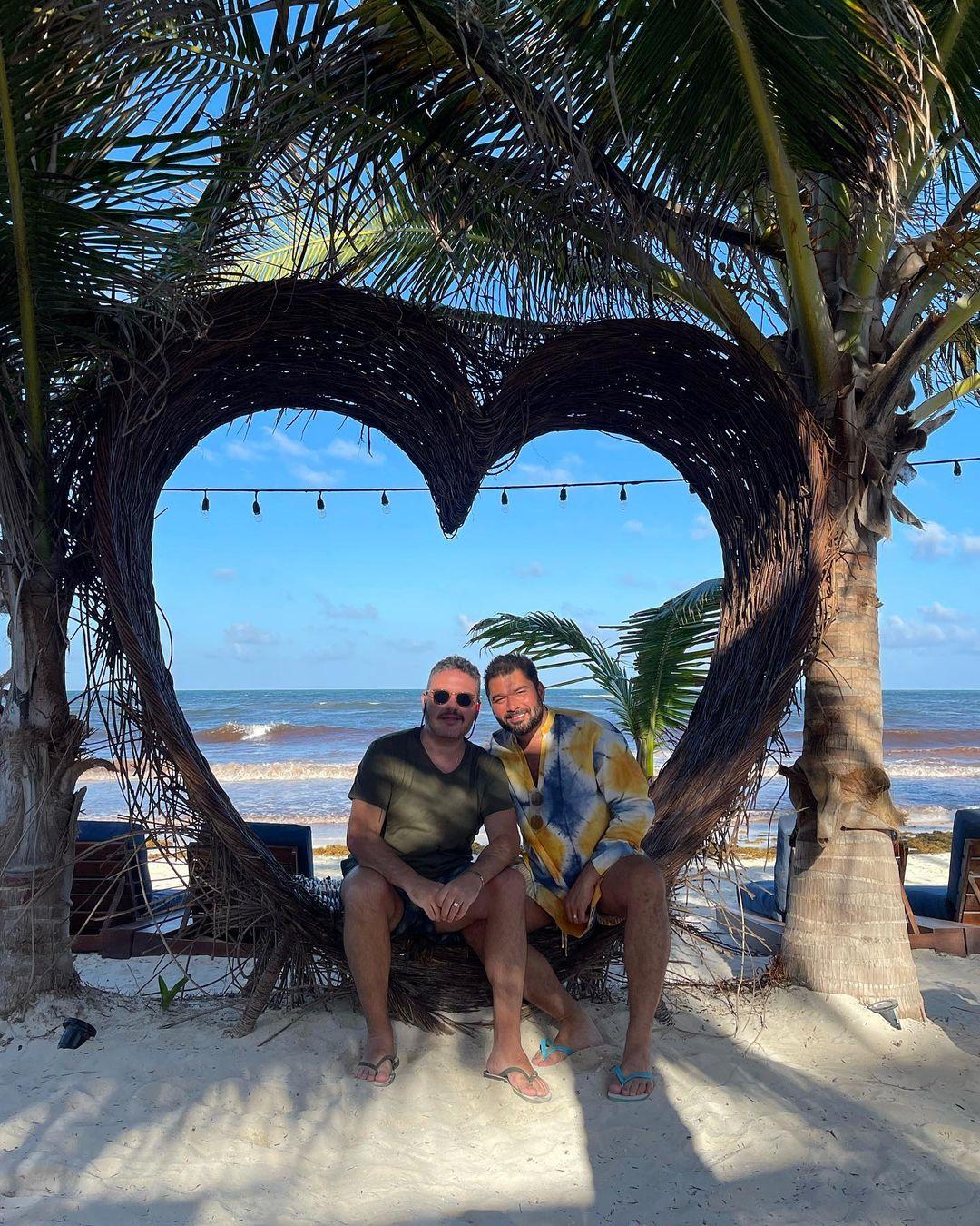 Marco Abreu e Renato Thomaz de férias em Tulum