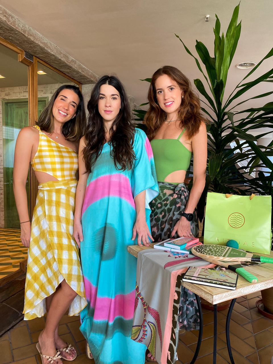 Mariana Lima, Sara Brasil e Fernanda Esteves juntas em collab
