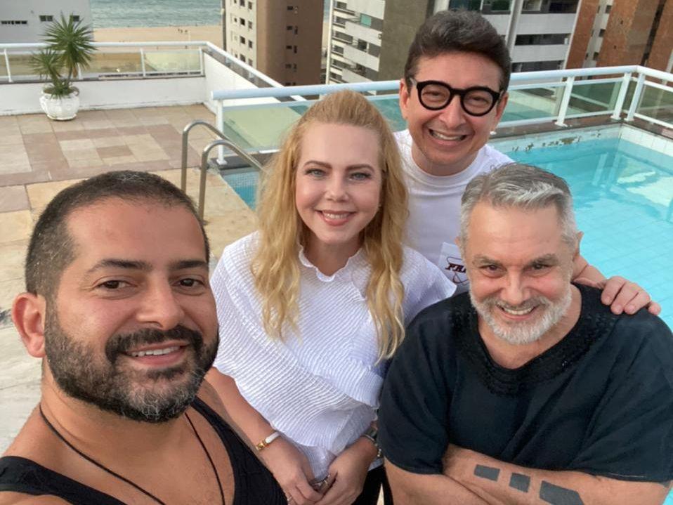 Lino Villaventura e Régis Vieira recebem Branca e Racine Mourão