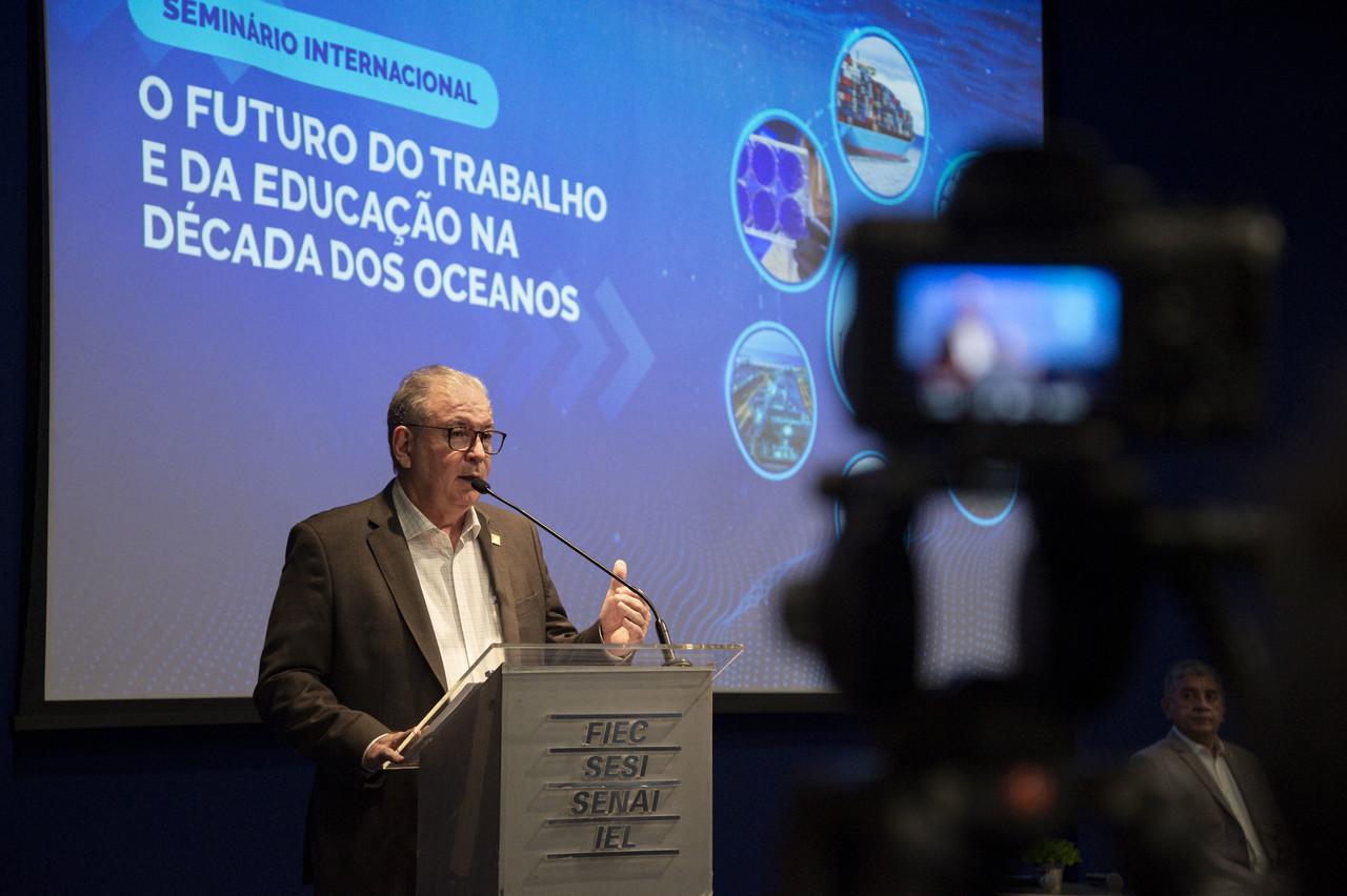 Ricardo Cavalcante debate o futuro sustentável da economia do mar em seminário internacional