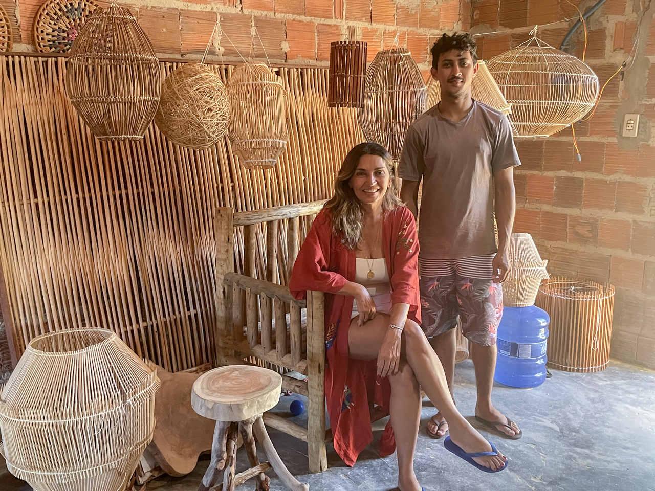 Luminárias artesanais: artista cearense produz peças únicas em Moitas