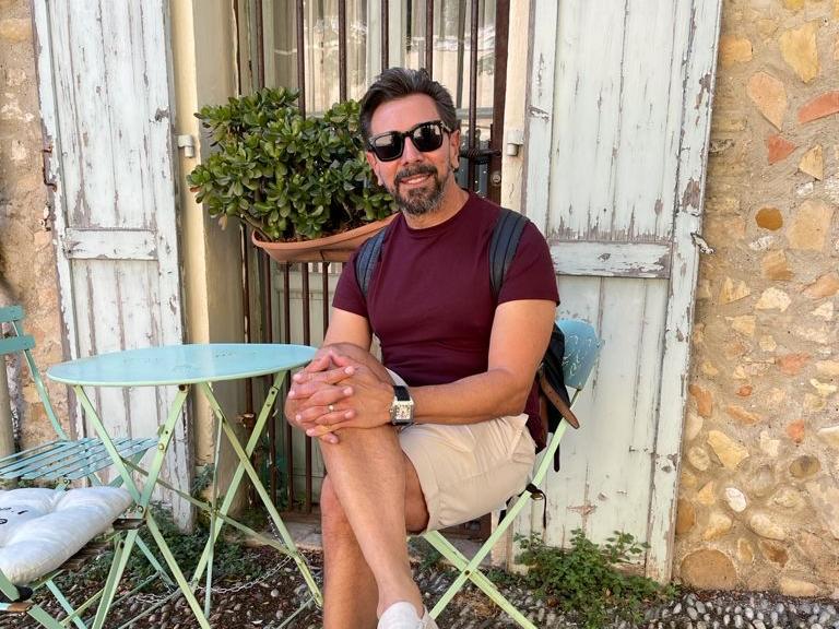 Carlos Otávio em Cagnes-sur-Mer (Foto: Arquivo pessoal)