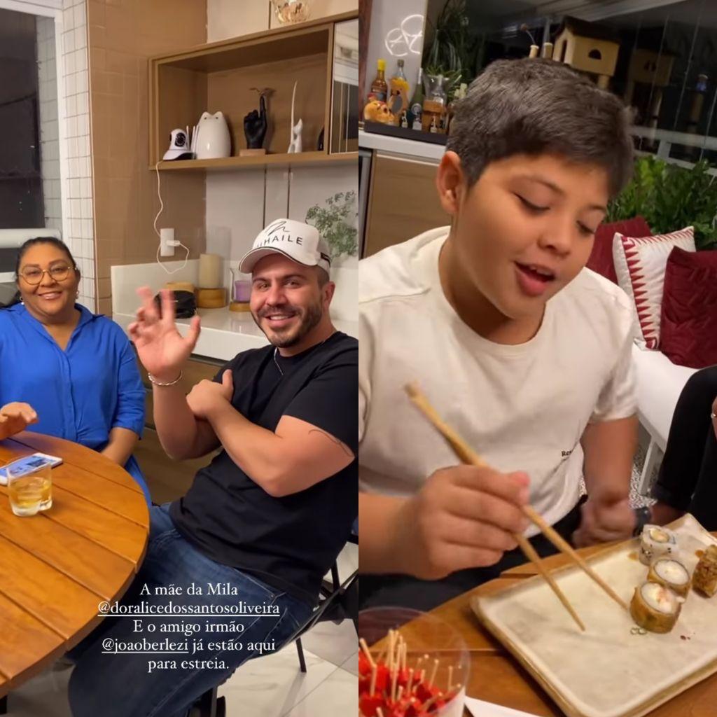 Família de Mileide Mihaile se reúne para assistir estreia da peoa na 'Fazenda'