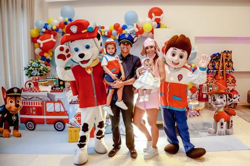 Lívia Aguiar e Domingos Neto comemoram o aniversário de 3 anos do filho Tomás