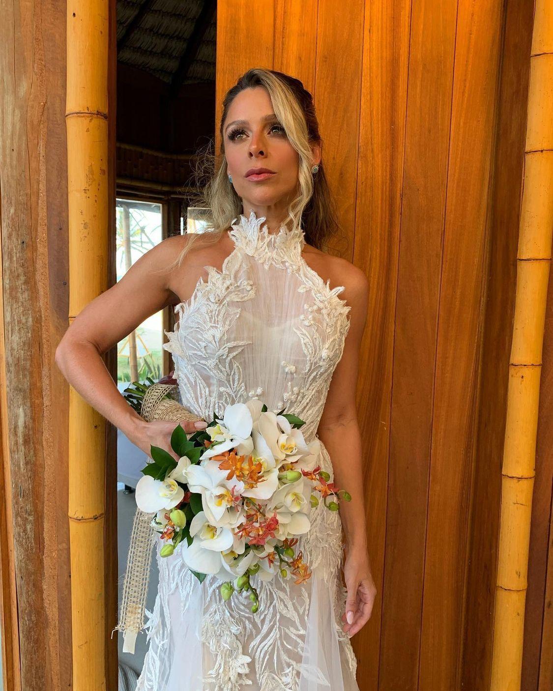 Natália Recamonde usa vestido da Lisblu em casamento