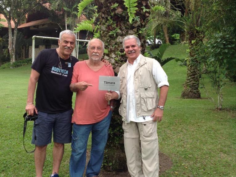 Pio Rodrigues com Danilo Caymmi e Roberto Menescal em Guaramiranga, em 2018 (Foto: Arquivo pessoal)